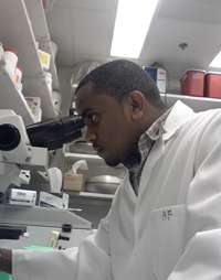 Natnael Kenea In The Lab